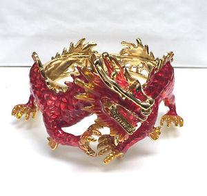 【送料無料】ブレスレット アクセサリ― バトラーウィルソンレッドオレンジエナメルドラゴンブレスレットbutler and wilson red orange enamel dragon bracelet rigid