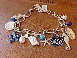 【送料無料】ブレスレット アクセサリ― ブライトンnwtブレスレットbrighton nwt seascape charm bracelet