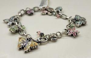 【送料無料】ブレスレット アクセサリ― ブライトンブレスレットタグbrighton flutter butterfly charm bracelet j34192 nwt with tag retired
