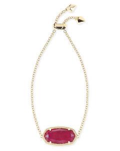 【送料無料】ブレスレット アクセサリ― ケンドラスコットブレスレットkendra scott daisy chain bracelet in maroon jade and gold plated