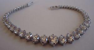 【送料無料】ブレスレット アクセサリ― 925 sterlingladies tennis bracelet w15cts aaa cubic zirconia8925 sterling silver ladies tennis bracelet w 15 cts aaa cubic