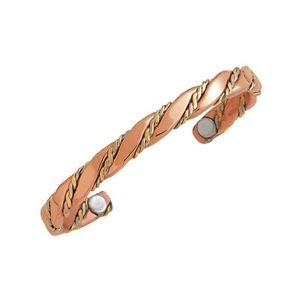 【送料無料】ブレスレット アクセサリ― セルジオカフブレスレットsergio lub magnetic copper cuff bracelet magnetic caduceus large