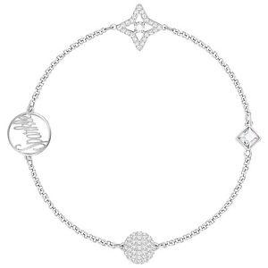 【送料無料】ブレスレット アクセサリ― スワロフスキーリミックスシルバーブレスレットドルswarovski 5365752 remix silver sparkle boundless bracelet 175cm rrp99