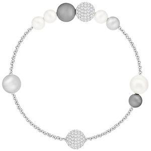 【送料無料】ブレスレット アクセサリ― スワロフスキーリミックスシルバーパールクリスタルブレスレットドルswarovski 5365739 remix silver pearl crystal boundless bracelet 175cm rrp99