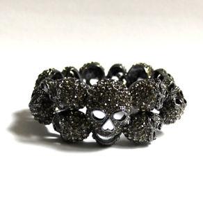 【送料無料】ブレスレット アクセサリ― バトラーウィルソンピュータークリスタルスカルブレスレットbutler and wilson pewter crystal skull bracelet