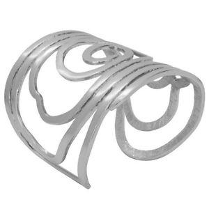 【送料無料】ブレスレット アクセサリ― スルタンマットシルバースワールカフブレスレットフランスkarine sultan matte silver swirl large cuff bracelet, french, celebrity favorite