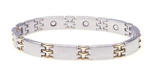 【送料無料】ブレスレット アクセサリ― ブレスレットジュエリーブレスレットmagnetic bracelet jewelry bracelet dreigliedrig bicolor magnetic