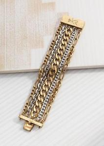 【送料無料】ブレスレット アクセサリ― ブレスレットシルバーボックスクラスプsilpada tough luxe bracelet 75 krb0002 brass silver box clasp nwot drn