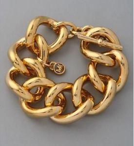 【送料無料】ブレスレット アクセサリ― ミハエルロゴリンクチェーンブレスレットゴールドシルバーmichael kors mk logo removable charm link chain statement bracelet goldsilver