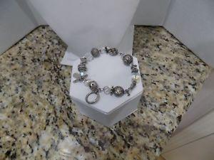 【送料無料】ブレスレット アクセサリ― スターリングシルバートレスジョリーオーロリスタルトグルブレスレットロング925 sterling silver tres jolie aurora borealis crystal toggle bracelet 8 long