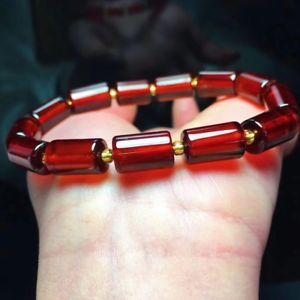 【送料無料】ブレスレット アクセサリ― ガーネットバレルビーズゴムブレスレットヒーリングnatural red garnet gemstone barrel beads elastic bracelet healing 283g