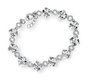 【送料無料】ブレスレット アクセサリ― デザイナスターリングシルバーブレスレットクッションカットdesigner elements sterling silver bracelet cushion cut cz amp; pave cz detail