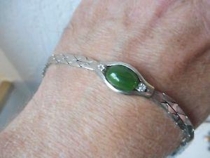 【送料無料】ブレスレット アクセサリ― アンティークブレスレットnice, antique bracelet__925 silver __ with green stone ___
