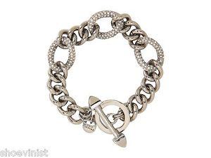【送料無料】ブレスレット アクセサリ― ボックスジューシークチュールクリスタルリンクブレスレット in box authentic juicy couture pave crystal link bracelet