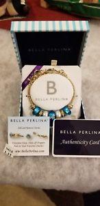 【送料無料】ブレスレット アクセサリ― ベラブレスレットターコイズスワールパールクリスタルビーズbella perlina charm bracelet turquoise flower, swirl, pearl, crystal beads