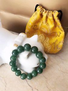 【送料無料】ブレスレット アクセサリ― シルクレッドゴールドポーチヒスイブレスレットauth jade bean bracelet with silk red gold pouch