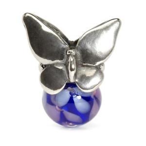 【送料無料】ブレスレット アクセサリ― ペンダントシルバーガラスtrollbeads pendant silver and glass butterfly floral sphere summer tagbe 00105