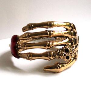 【送料無料】ブレスレット アクセサリ― バトラーウィルソンゴールドカラースケルトンハンドスカルbutler and wilson gold color 10 single skeleton hand skull