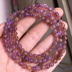 【送料無料】ブレスレット アクセサリ― ルチルチタンクォーツビーズブレスレット52mm natural cacoxenite purple rutilated titanium quartz beads bracelet aaa