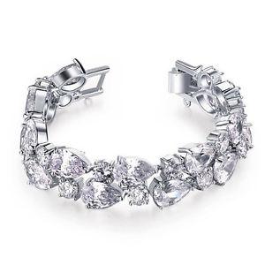 【送料無料】ブレスレット アクセサリ― ベラkホワイトゴールドメッキスワロフスキークリスタルブレスレットbella krystal 18k white gold plated swarovski crystal bracelet 18cm bridal