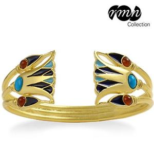 【送料無料】ブレスレット アクセサリ― エジプトカフブレスレットターコイズカネegyptian lotus flower cuff bracelet goldplated with turquoise carnelian beads