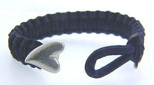 【送料無料】ブレスレット アクセサリ― ブレスレットシルバーハートクラスプアンプポーチ07101078 soldier to soldier navy bracelet 67 with silver heart clasp amp; pouch