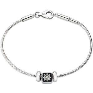 【送料無料】ブレスレット アクセサリ― ブレスレットシルバーmorellato solomia bracelet man silver 925 safz 136