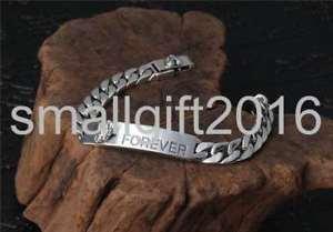【送料無料】ブレスレット アクセサリ― スターリングシルバーレトロファッションフラットブレスレットpure s925 sterling silver retro fashion forever love flat width mans bracelet