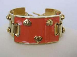 【送料無料】ブレスレット アクセサリ― ジョンソンゴールドトーンオレンジエナメルヒンジカフブレスレットbetsey johnson gold tone orange enamel hinged cuff bracelet