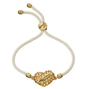 【送料無料】ブレスレット アクセサリ― カデナドラドguess cadena mueca ubb21221 dorado pulsera con beigefarbener textilkordel