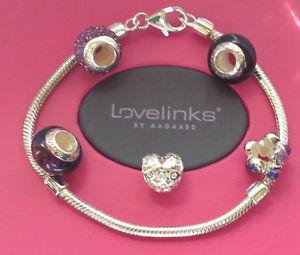 【送料無料】ブレスレット アクセサリ― シルバーパープルブレスレットgenuine lovelinks s silver amp; purple bracelet set 1110105220 free delivery
