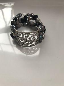 【送料無料】ブレスレット アクセサリ― スターリングシルバーパールブレスレットドルsilpada sterling silver pearl qurtz effervescence toggle bracelet b2180 99