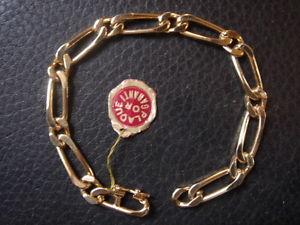 【送料無料】ブレスレット アクセサリ― ブレスレットビンテージゴールドプレートブレスレットtres beau bracelet vintage 1970 gold plate 12 grs old bracelet 175 cm