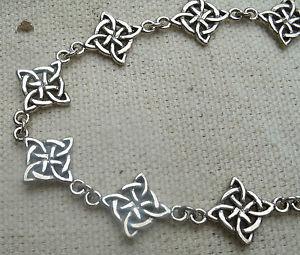 送料無料 ブレスレット 大放出セール アクセサリ― セルティックノットブレスレットピーターストーンceltic sterling 未使用品 silver elemental bracelet pagan peter stone knotwork knot