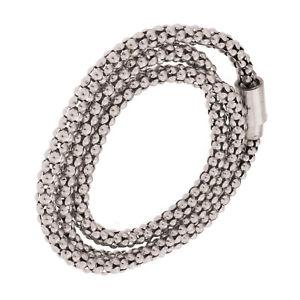 【送料無料】ブレスレット アクセサリ― ポップコーンチェーンブレスレットfine silver plated 24 popcorn chain bracelet with magnetic closure