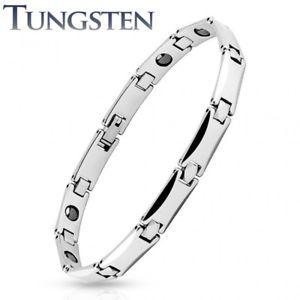 【送料無料】ブレスレット アクセサリ― タングステンメンズブレスレットリンクtungsten mens bracelet rectangular links
