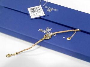 【送料無料】ブレスレット アクセサリ― スワロフスキーバニラゴールデンシャドウブレスレットクリスタルswarovski vanilla golden shadow bracelet, leather crystal authentic mib 5032764