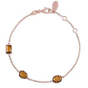 【送料無料】ブレスレット アクセサリ― ピンクローズゴールドスモーキークオーツマルチブレスレットシルバーlatelita pink rose gold smokey quartz multi gemstone bracelet brown 925 silver