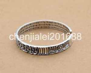 【送料無料】ブレスレット アクセサリ― スターリングシルバーファッションマントラブレスレットpure s999sterling silver fashion fish mantra womens bracelet