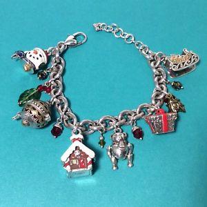 【送料無料】ブレスレット アクセサリ― ブライトンabcシルバーホリデークリスマスチャームブレスレット48nwotbrighton abc silver holiday frolic christmas charm bracelet 48nwot