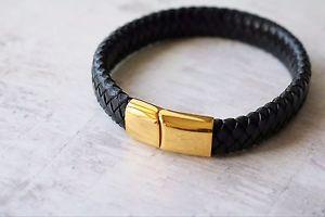 【送料無料】ブレスレット アクセサリ― ペレレガロオロda uomo personalizzato braccialetto in pelle inciso regalo ip placcato oro