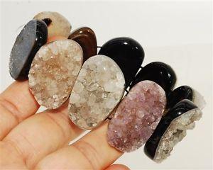 【送料無料】ブレスレット アクセサリ― ビーズブレスレット#special agate druzy geode beads bracelet 4