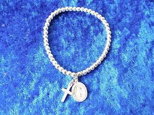 【送料無料】ブレスレット アクセサリ― アンティークシルバーブレスレットクロスemebellecedor, antique silver bracelet __ 925 __ with cross and pilgerplakette __