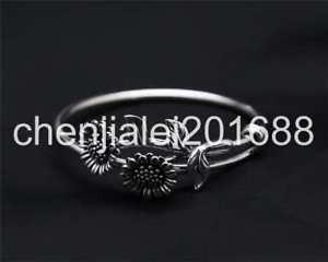 【送料無料】ブレスレット アクセサリ― s925スターリングロータスロケットブレスレットpure s925 sterling silver lotus leaf retro simple telescopic womens bracelet