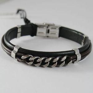 【送料無料】ブレスレット アクセサリ― ブレスレットスチールbracelet men steel and leather cesare paciotti 4us art 4ubr1548
