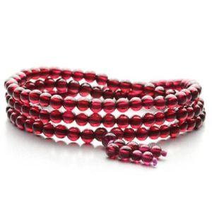 【送料無料】ブレスレット アクセサリ― レッドガーネット3ブレスレット5mmnatural purple red garnet three round crystal transparent beads bracelet 5mm