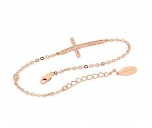【送料無料】ブレスレット アクセサリ― georgini b142rgスターリングローズクロスブレスレットrrp99georgini b142rg sterling silver rose gold plated cross bracelet rrp99