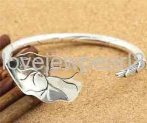 【送料無料】ブレスレット アクセサリ― スターリングシルバーレトロブレスレットpure s925 sterling silver retro lotus delicate adjustable womens bracelet