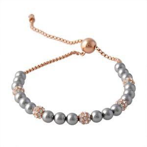 【送料無料】ブレスレット アクセサリ― ミハエルグレーパールローズレディーススライダーブレスレットmichael kors grey pearl rose goldtone ladies slider bracelet mkj6294791