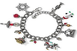 【送料無料】ブレスレット アクセサリ― プラムクリスマスブレスレットタグ listingbrighton sugar plum christmas charm bracelet w tag